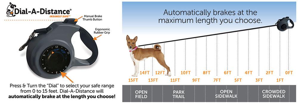 Honden flexlijn Dail-A-Distance