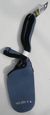 Neo sling steel blue voor H2O2go honden waterfles