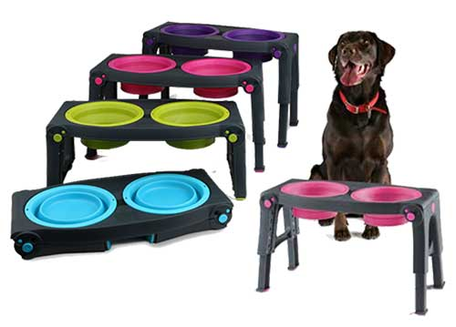 Popware Height Adjustable Pet Feeder