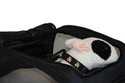 honden autozitje Car Seat Kennel bovenzijde open geritst